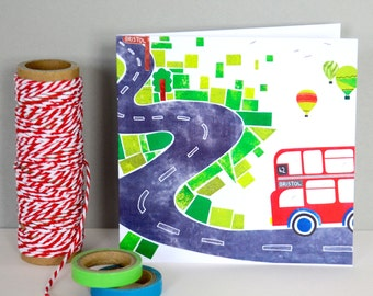 Road to Bristol Greetings Card
