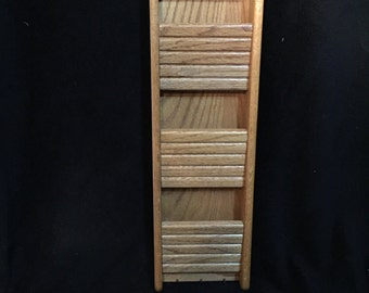 Vintage Wood Wall Mount Mail Organizer Sorter