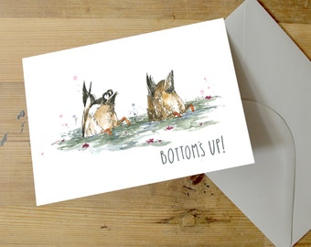 Bottom's Up! A5 Greetings Card