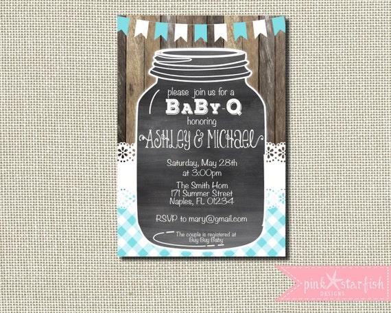baby q shower invitation rustic baby shower invitation bbq shower