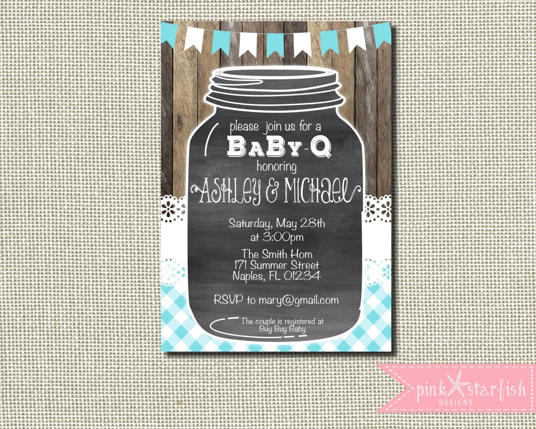 baby q shower invitation rustic baby shower invitation bbq