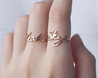 Custom Name Ring - Personalized Name Ring - Children Name Ring - Custom Name Gift for Mom - Bridesmaid Gifts #PR04F62