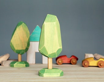 Wooden tree, wooden toy, Waldorf toy, recycled wood