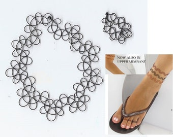 Tattoo Anklet with toe ring