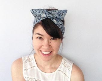 Batik Dolly Bow, Wire Headband, Usamimi Rabbit Ears, Twist Headband