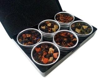 FRUIT TEAS, ORGANIC Tea Kit, gift for mom, loose leaf tea, hand blended tea, tea sampler, grandma gift, hibiscus tea, gift box, tea bags