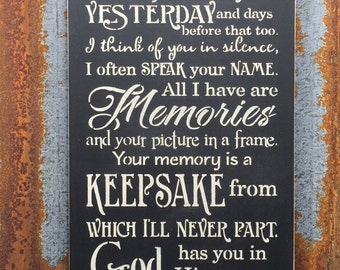 I thought of you today -Handmade Wood Sign