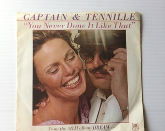 CAPTAIN & TENNILLE RECORD, You Never Done it Like That, instrumental music, Vintage single, love song, 1970s music, valentine's day gift