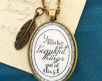"Gungor ""You Make Beautiful Things"" Pendant Necklace"