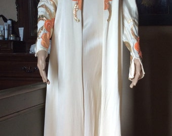 1930s silk dress with matching gown.