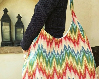 Large hobo bag ,Hobo shoulder bag ,Large tote bag ,Over shoulder bag ,Casual Bag ,Colorful Bag, Weekender, Laptop Bag ,Colorful shoulder bag