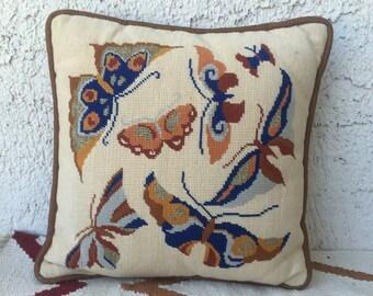 Mini 70's butterfly pillow