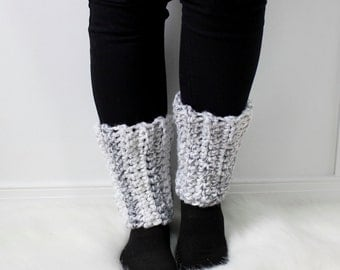 SALE Knit Ankle Warmers Accessories   THE GERA   Marble