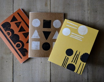 pocket notebooks / / pack of 3 / / assorted