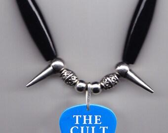 The Cult Chris Wyse Blue Guitar Pick Necklace - 2010 Love Live Tour