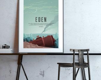 Eden (Stanisław Lem) classic science fiction poster
