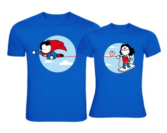 Matching Couple Shirts,Made for Loving You™ His and Hers Couples Shirts,Superman Shirt,Husband Gift,Boyfriend Gift,Superman Gift for Couple,