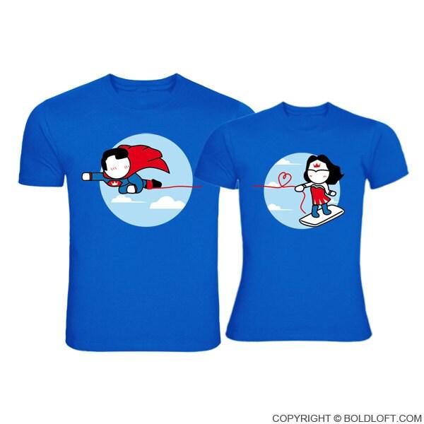 Couple Shirts Superman Design
