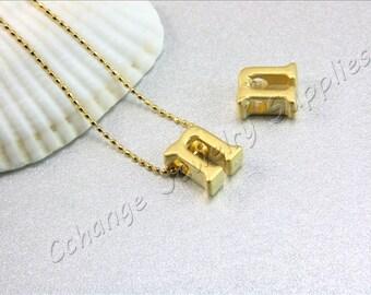 N Gold Letters, 2 pcs Gold Lowercase Letters, Matte Gold Alphabet Letter, 24K Gold Plated Letter, Lowercase Alphabet Letters, Gold Letters
