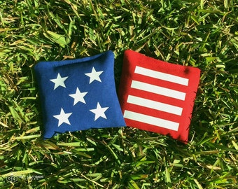 8 Stars & Stripes Classic Series Cornhole Bags - Red, White, and Blue | United States of America | USA | 4th of July
