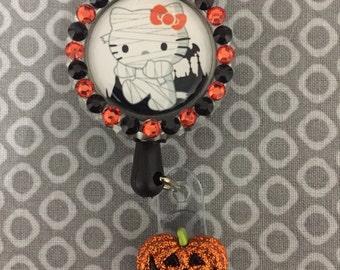 Halloween Hello Kitty Retractable Badge Holder