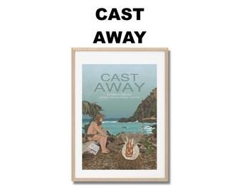 Cast Away Movie Print - Poster Robert Zemeckis A3
