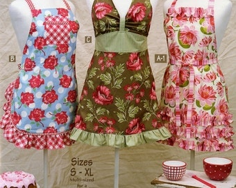 More Retro Aprons Pattern Book by Taylor Made Designs; TMB-167; Sm, Med, Lg, XL Apron Patterns; Vintage Style; Cindy Taylor Oates