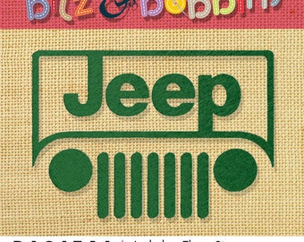 Jeep Digital Embroidery Design