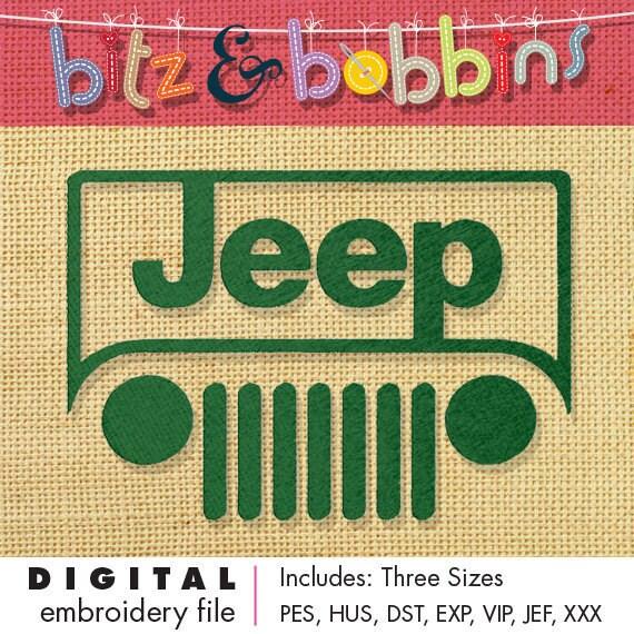 Jeep digital embroidery design