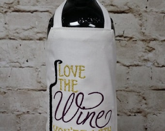 Bottle Apron (Wine) - Love the Wine You're With!!!