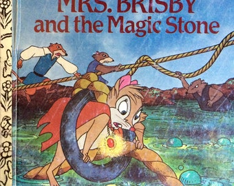 The Secret Of Nimh Mrs. Brisby and The Magic Stone Little Golden Book