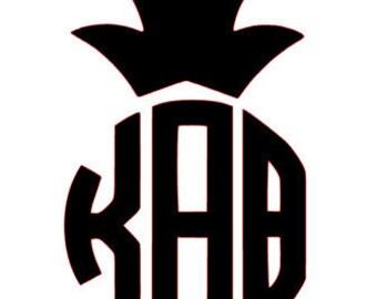 Kappa Alpha Theta Pineapple Vinyl Decal
