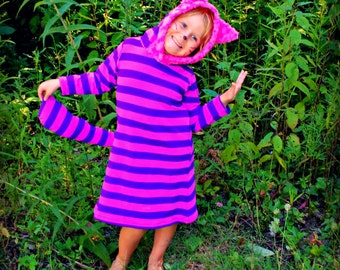 Cheshire Cat Hoodie or dress costume Cosplay any size kid to adult halloween