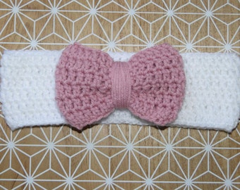 Bow Crochet Headwrap