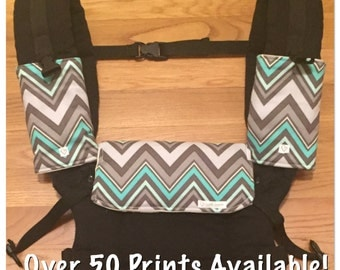 Beco Gemini Baby Carrier Drool/Teething Cover ***Vinyl Backing Option, Optional Strap Covers, More Patterns Available!!***