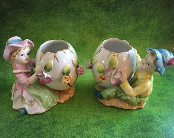 Rare Wales Chinaware girl and boy figurines