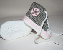 Crochet Converse 3-6 Month, Crochet Tennis Shoes
