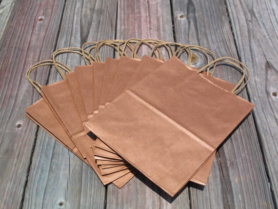 50 Pack Rose Gold Gift Bags With Handles Wedding Welcome