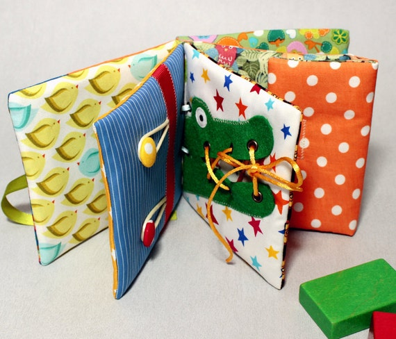 Items Similar To Quiet Book Fabric Activity Busy Book