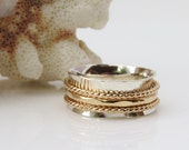 Gold Band, Spinner Ring, Sterling Silver Band, Meditation Ring, Wedding Ring, Celtic Ring, Silver Gold Ring,