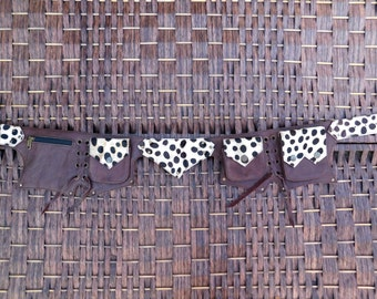 Leather Utility Belt Festival Pocket Belt,Travel Money Belt,Gypsy,Hippie,Hip Purse.Burning Man,Waist Bag,I phone 6 Wallet,Steampunk Belt.