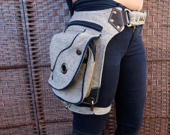 High Quality utility Canvas Pocket Belt,Festival Belt,Hip Belt,Travel Belt
