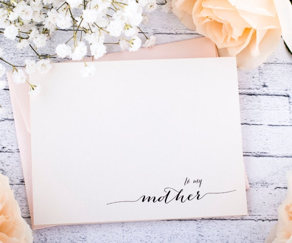 Mother Wedding Note Card. To my Mother Father Groom on My Wedding Day keepsake card. Thank you Mom Wedding card
