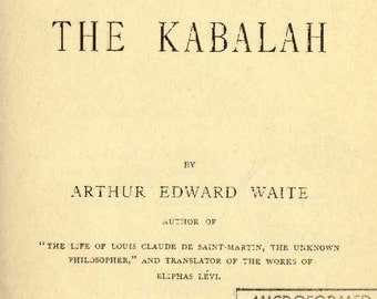 The doctrine and literature of the Kabbalah (Facsimile edition)