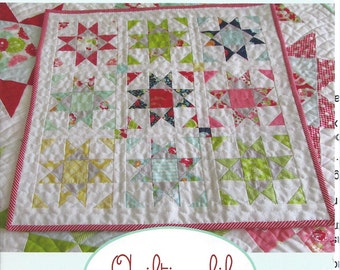 Mini Shine Quilt Pattern, A Quilting Life Designs, Mini Quilt Pattern, Mini Star Quilt Pattern, AQL 114
