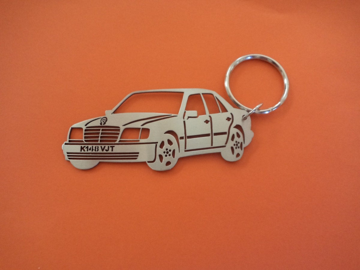 Mercedes 124 key chain personalized keychain car keychain for Mercedes benz key chain