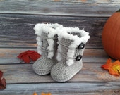 Crochet Baby Boots - Baby Boots - Baby Girl Boots - Infant Girl Boots - Boots for Girls - Winter Boots