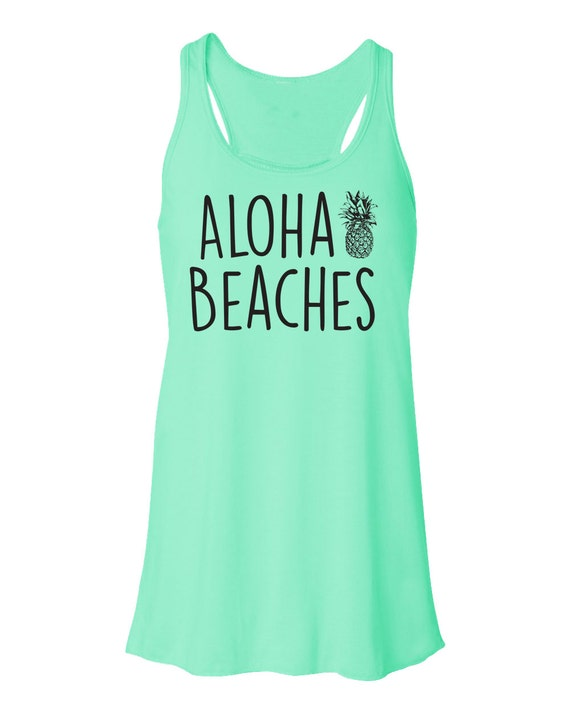 aloha beaches beach tank top flowy tank top aloha beaches