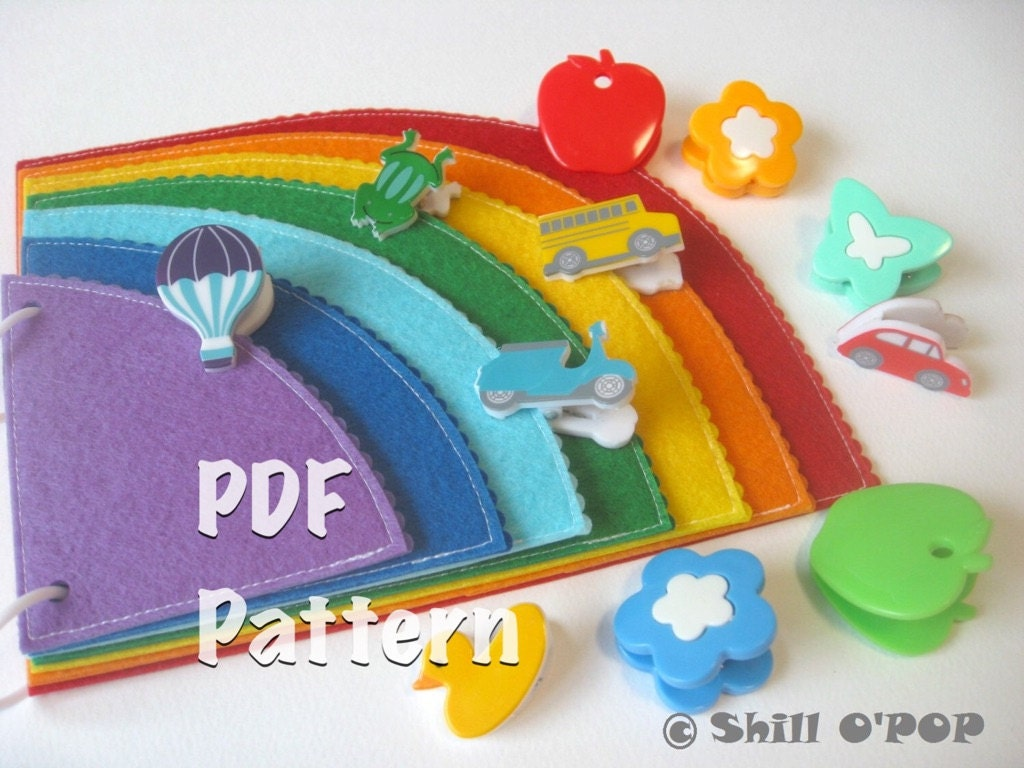 rainbow felt quiet book for kids coloring activities pdf
