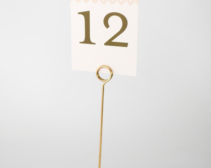stella table numbers  //  lola louie paperie